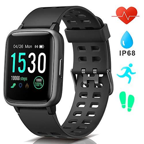 AIMIUVEI Smartwatch, Reloj Inteligente Impermeable IP68, Pulsera Actividad Inteligente con Pulsómetro Monitor de Sueño GPS Podómetro Reloj Deportivo Hombre Mujer Compatible con iOS y Android