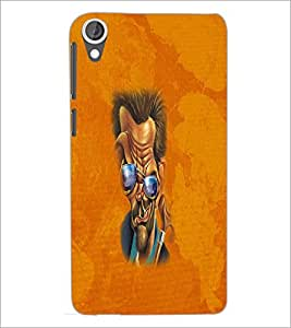 HTC DESIRE 820 FUNNY FACE Designer Back Cover Case By PRINTSWAG