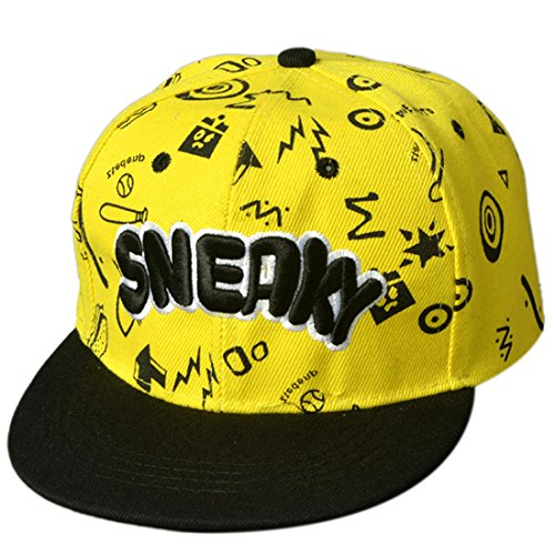 THENICE Kind Hip-Hop Cap Baseball Kappe Hut (letter gelb)