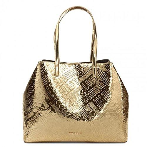 Love Moschino Metallic Logo shopping bag gold (Patent Shopper)