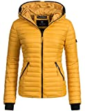 Navahoo Damen Übergangs Jacke Steppjacke Kimuk (vegan hergestellt) Gelb Gr. S