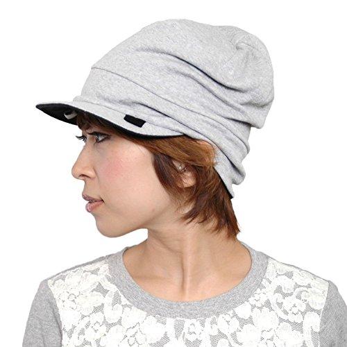 Casualbox Damen Hergestellt in Japan Beanie Bio Sommer Mütze Haut Light Gray & Black (Krempe Hüte Damen Stricken Mit)
