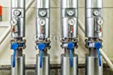 Poster image 80 x 50 cm: 'boiler pipes with insulation, valves, gate valves and displays', image sur Poster