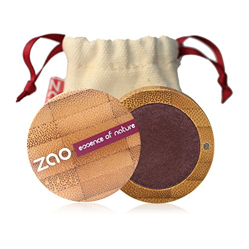 ZAO Pearly Eyeshadow 118 pflaume Lidschatten schimmernd in nachfüllbarer Bambus-Dose (bio, vegan, Naturkosmetik) 101118 (Pflaume Schimmernde)