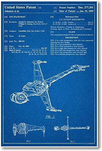 Star Wars b-wing Patent–NEU berühmten Erfindung Blueprint Poster