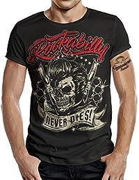 1fc032e4d347ae T-Shirt Rockabilly Design: Big Size Print Rockabilly Never Dies!
