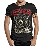 T-Shirt Rockabilly Design: Big Size Print Rockabilly Never Dies! M