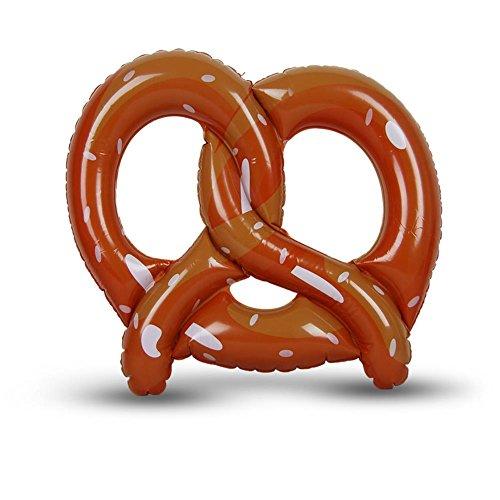 2 x HC-Handel 922173 Aufblasbare Brezel Brezn Bayern Oktoberfest Gummibrezel Wiesn Aufblasbrezel 45 cm