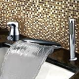 Luxus Badewannenarmaturen - Zeitgenössisch - Wasserfall/Seitendüse - Edelstahl ( Chrom )