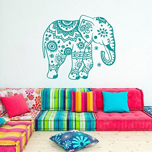 elephant-wall-decal-stickers-floral-patterns-yoga-decals-home-decor-india-wall-art-boho-bedding-nurs