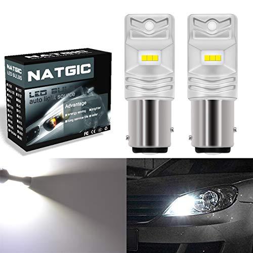 NATGIC 1157 BAY15D 2057 7508 Ampoules LED blanc xénon 850LM CSP Puces pour arrêt de frein, feu de recul, 12V-24V (lot de 2)