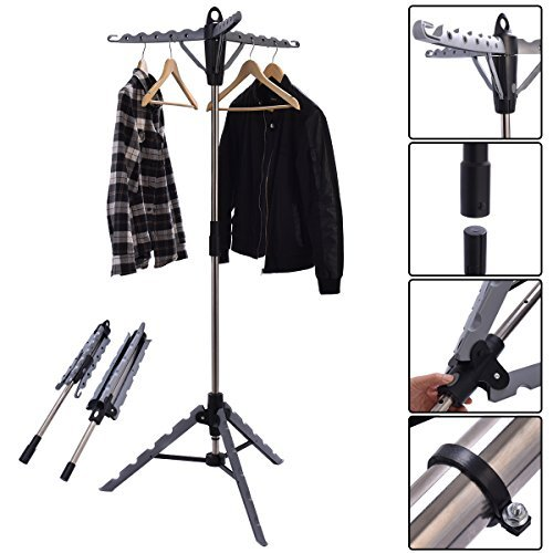 NEW Clothes Hanger Drying Portable Multifunctional Retractable Laundry Racks Tripod By Unknown