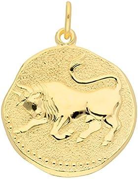 Gold 8 k ( 333 ) Sternzeichen Anhänger - Stier - Ø 18,2 mm