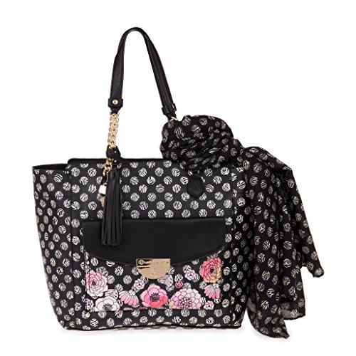 PASH BAG BY L'ATELIER DU SAC , Sac pour femme à porter à l'épaule noir noir