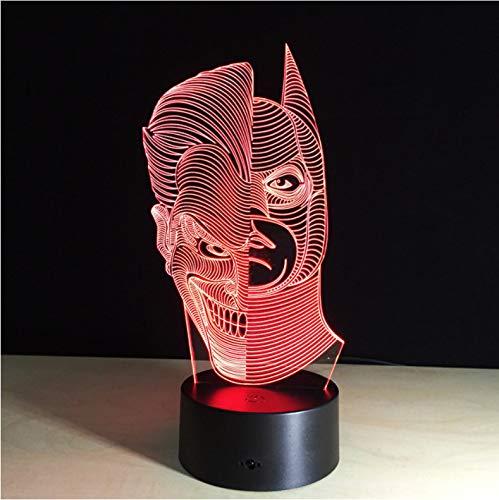 Krieg der Sterne 3D Tischlampe Led Nachtlicht Wohnkultur Touch Schalter Schreibtisch Licht Bb8 Darth Vader Yoda Batman Halloween ()
