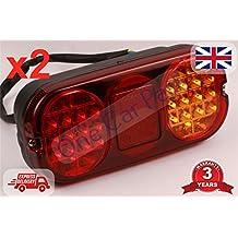 2 x JCB 3CX partes luz trasera unidad completa 4CX lateral indicador LED lámpara 700/