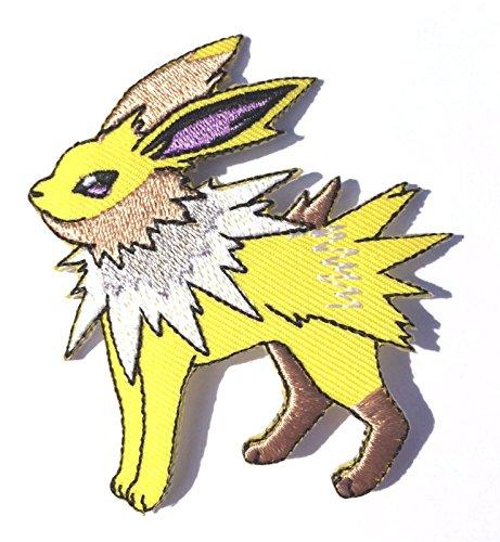 Jolteon patch Pokemon Go ricamato Iron/Sew on distintivo DIY applique souvenir costume elettrico lampo