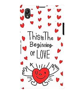 EPICCASE beginning of love Mobile Back Case Cover For Sony Xperia Z1 (Designer Case)