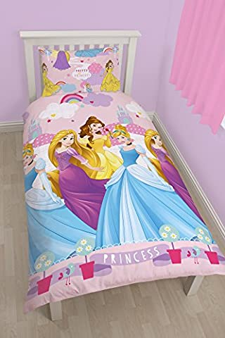Character World Disney Princess Enchanting Rotary Bettwäsche-Set, Einzelbett,