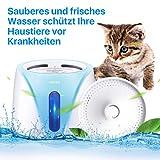 PEDOMUS 2L Katzenbrunnen Trinkbrunnen für Katze mit Filter Automatisch Katzen Trinkbrunnen Wasserbrunnen Haustier Hunde Wasserspender Katzentrinkbrunnen Leise UV-Entkeimungslampe YW-002 - 7