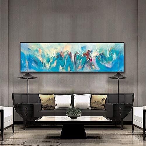 QIAISHI Abstrakte Schattierung Aquarell erröten Öl Leinwand Gemälde Bunte Bilder Wand Poster Home Decor