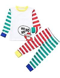 Navidad Bebe Ropa,ZARLLE Pijama Dos Piezas para niño,Trajes para niños, Pijamas