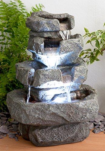 """Zimmerbrunnen """"Shubunkin Spills"""" mit LED-Beleuchtung 36cm"""