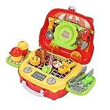 Kinderküche Rollenspiel Spielzeug, Kinder Kinder Rollenspiel Spielzeug Set Lustig Rollenspiel Essen Kochen Koffer Lustiges Spielzeug Geschenke(# 6)