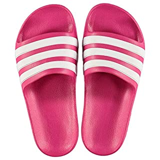 adidas Girls Duramo Sliders Pink/White UK 5 (38)