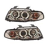 Scheinwerfer Set Angel Eyes LED Klarglas Chrom
