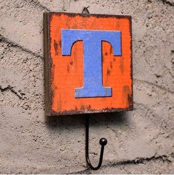 Crochet Mural Vintage Design Decoratif Porte Clés Original T Alphabet Lettre