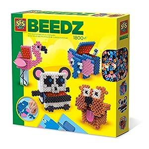 SES Creative Beedz - Cuentas para Planchar de Cajas de Animales en 3D - Kits de Mosaico (5 año(s), Niño/niña, Preescolar,, 1800 Pieza(s), Países Bajos)