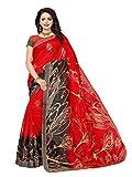 Mrinalika Fashion Women's Art Silk Saree with Blouse Piece (Srja021) (Red, Free Size)