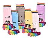DSstyles Toe Socken 6 Paar Cartoon Fünf Finger Zehen Socken Sport Yoga Socken für Frauen und Mädchen