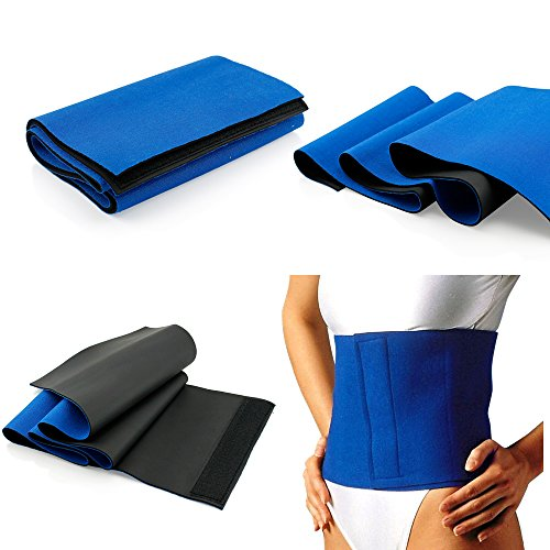 5185nHf6k6L - BEST BUY #1 Fat Cellulite Burner Slimming Exercise Waist Sweat Belt Body Wrap Sauna Neoprene - One Size Fits All Reviews and price compare uk