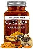 CURCUMA e PIPERINA 95% Kinier | 120 Capsule da 750mg | Altissimo Dosaggio | Prodotto Certificato | Vegan • Antinfiammatorio • Antiossidante • Peso Forma