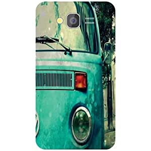Samsung Galaxy Grand 2 Blue Car Matte Finish Phone Cover