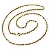 Cordón cadena oro 18k salomónico 45cm. normal 3.5mm. [AA1590]