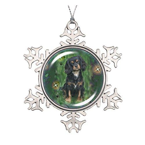 Schwarz & Tan Cavalier King Charles Spaniel Ornament