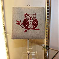 NEW Gorgeous Shabby Chic Red Owl Coat Hook Rack Fabric Metal 20cm FREE POSTAGE