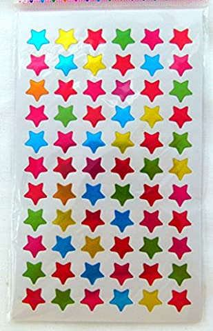 10 feuilles de Petite Forme étoilée scintillant Autocollants (660 (Adesivo Star Shapes)