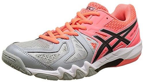 Asics Gel Blade 5, Chaussures de Handball Femme Multicolore (Flash Coral/black/mid Grey)