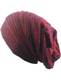 Sombrero de Gorro de invierno Gorros de punto Tejido de punto Lana Calentar  Sombrero Gorrita Cráneo Gorra para Mujer  … 6accb174e88