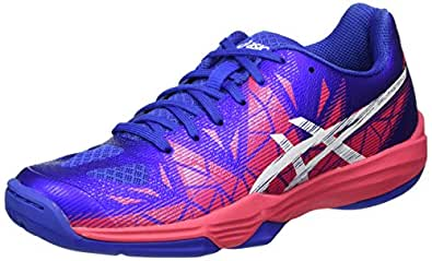 Asics Damen Gel-Fastball 3 Handballschuhe, Violett (Blue Purple/White/Rouge Red), 39 EU