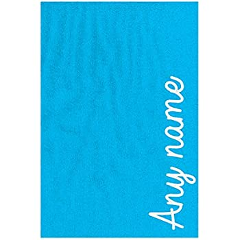 Personalised EMBROIDERED Microfibre swimming towel gift ANY NAME MSG