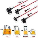 VIOFO 4 Piezas de tapón de Fusible de Circuito ATC ATS MICRO2 Mini Adaptador Soporte