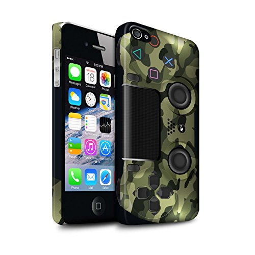 Clipser Matte Coque de Stuff4 / Coque pour Apple iPhone 5C / Camouflage Vert Design / Playstation PS4 Collection Camouflage Vert
