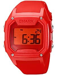 Freestyle - 101054 - Shark Classic - Montre Homme - Quartz Digital - Cadran Rouge - Bracelet Silicone Rouge