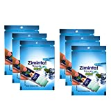#10: Ziminta Sugar Free Mint Mouth Freshener Easily Soluble Digestive Dispensable Strip - 30 Strips (Mint Flavour, Blue) - PACK of 6