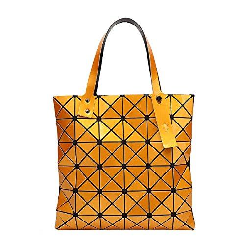 Pieghevole Borsa Casual Geometrica Borsa A Tracolla Di Personalità Di Modo Delle Donne Orange